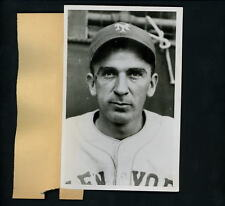 Carl Hubbell head shot pose 1937 World Series Press Wire Photo New York Giants