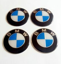 4x 70mm Logo Wheel Centre Badge Emblem Sticker Fits BMW Hub Caps Cover Adhesive