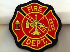 "First Responder Fire Department Firefighter Patch, 5"" Diameter  Free Shipping!!"