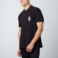 Moschino Polo T-Shirt Tee Gym Diamond Logo Signature Black M, L, XL, XXL RRP £75