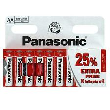 GENUINE PANASONIC HEAVY DUTY AA BATTERIES R6 1.5V PACK OF 10 ZINC CARBON