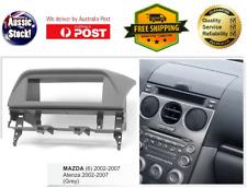 Fascia facia Mazda 6 2002-2007 Grey radio Single 1 Din dash panel kit trim dash