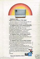 Publicité advertising 1973 Radiateur à gaz .... Gaz de France