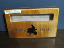 ACID KUBA DELUXE Wood Cigar Box Motocross Window view watches stamps Low Profile