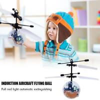 Induction Aircraft Flying Ball LED USB Charging Remote Control Children Kid Toy