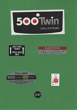 Victa 1970s 500Twin Vintage Mower Repro Decals