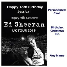 Personalised ED SHEERAN Concert Tour Show Ticket Wallet Card Birthday, Christmas