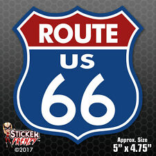 "ROUTE 66 STICKER ""BLUE RED"" Bumper Vinyl Decal sign car truck window USA #FS700"