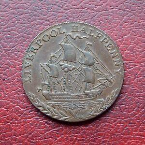 Liverpool 1791 copper halfpenny token