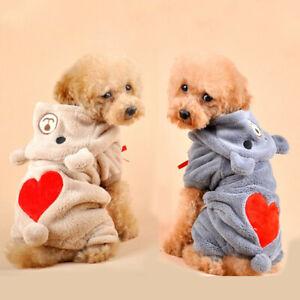 Cute Winter Pet Clothes for Dog Puppy Hoodie Jacket Coat Sweatshirt Warm Sweater
