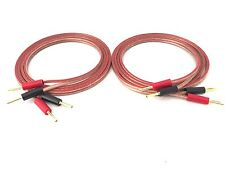 4M(pair) 2x4.0mm²  Highly Flexible Speaker Cable-Pure Copper  with  Banana Plug