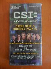CSI CRIME GAME BOOSTER PACK #1 With 3 New Crime Stories, Box SEALED
