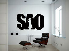 Wall Vinyl Sticker Decal Anime Manga SAO Logo Emblem Sword Art Online V102