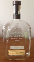 Empty WOODFORD RESERVE Kentucky Straight Bourbon Whiskey Bottle  1 LITER/ CRAFTS