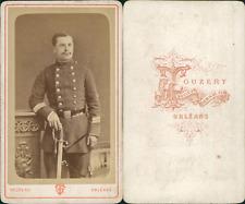 Touzery, Orléans, officier à identifier CDV vintage albumen Tirage albuminé