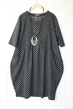 Italy Kleid Ballonkleid 46 48 50  Schwarz Lagenlook Pünktchen Dots
