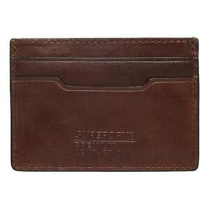 Superdry Leather Card Holder - Tan Suede