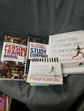 SET ACE Personal Trainer Manual, Study Companion, Flashcards, please see photos