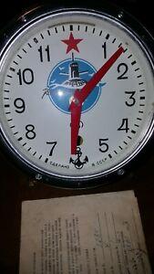 RUSSIAN USSR SOVIET SUBMARINE VOSTOK CHRISTOPOL NAVY MARINE SHIP WALL CLOCK WWII