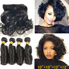 4bundles/200g 100% Virgin Human Hair Extensions Indian Loose Wave Hair Remy Weft