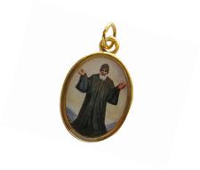 San Charbel Medal Charbel Makhluf (Gold-tone) Health Protection Pray Handmade Me