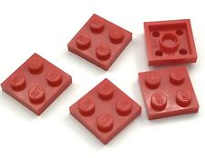 Lego Lot of 5 New Red Plates 2 x 2 Dot Building Blocks Pieces