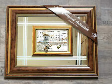 3 D Mahagoni Holz Spiegel Designer Bild Rahmen 50x40 cm Bilderrahmen Burg