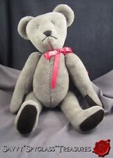 """OOAK  Kathy Nerison 1984 Hand Crafted 17"""" Jointed Teddy Bear Artist Signed"""