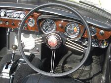 Se adapta a MG TF Enano 53-55 Negro Cuero Italiano cubierta del volante de mejor calidad