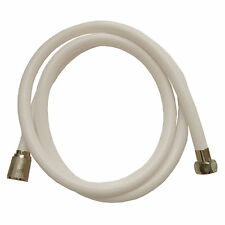 PVC FLAT STRONG 1.5M METRE SHOWER HOSE WHITE SMOOTH BATHROOM