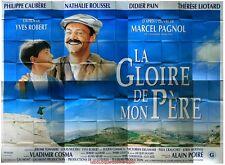 LA GLOIRE DE MON PERE Affiche Cinéma GEANTE / WIDE Movie Poster MARCEL PAGNOL