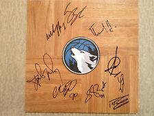 Minnesota Timberwolves NBA team signed SIGNED autographed Floorboard coa