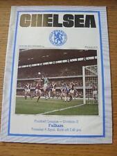 06/04/1976 Chelsea v Fulham (cambios de equipo, algunas manchas)