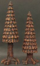 Department 56 #52213 Village Pine Cone Trees - set of 2