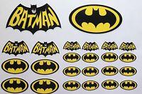 24 Batman Logo Gedruckt Vinyl Aufkleber Sticker Set Auto / Van/ Motorrad /Comic/