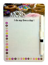 DONUTS A5 MAGNETIC MEMO BOARD MESSAGE NOTE KITCHEN FRIDGE OFFICE & DRYWIPE PEN