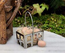Miniature Dollhouse FAIRY GARDEN Accessories ~ Egg Basket with Light Brown Eggs