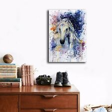30�—40�—3cm Watercolor Colorful Horse Framed Canvas Prints Wall Art Home Decor
