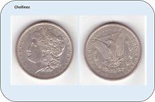 UN DOLAR DE PLATA AÑO 1891  ESTADOS UNIDOS   ( MB11083 )