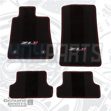 2017-2021 Camaro ZL1 Jet Black & Adrenaline Red Stitching Carpet Floor Mats