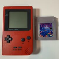 Nintendo Game Boy Pocket Red Console Handheld With Tetris Game MGB-001 Tested
