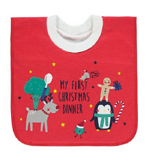 My First Christmas Dinner Baby Bib Pop Over Head Bib Dribble Bib