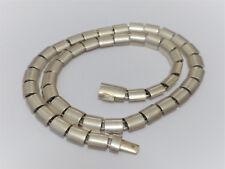 Design Collier Handarbeit in 925 Sterling Silber; 41cm;rhodiniert