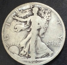 1920-S Liberty Walking Silver Half Dollar U.S. Coin A3865