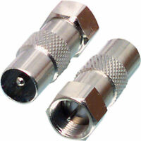 4 X F-Type Coaxial Coax F plug male to PAL male Connector adapter SATELLITE TV