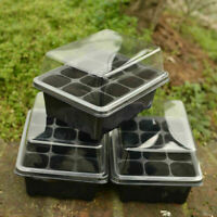 3 Pack 12 Cells Garden Planter Seedling Pot Nursery Plant Seed Tray Window Box