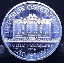 2014 Austria Philharmonic 1 oz Silver Coin .999 Fine BU Republik Osterreich