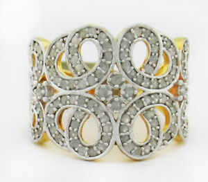 GENUINE 1.80 Cts DIAMONDS RING 925 Sterling Silver * NEW WITH TAG * Size 8.5