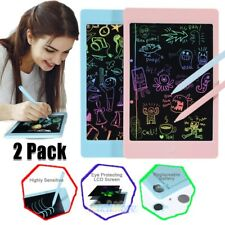LCD Writing Tablet 2 Pack, 8.5-inch Writing Board Doodle Drawing Board Blue/Pink