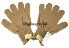 USGI Military USMC COYOTE BROWN / TAN FIELD LW WOOL GLOVES D3A LINERS SMALL NEW